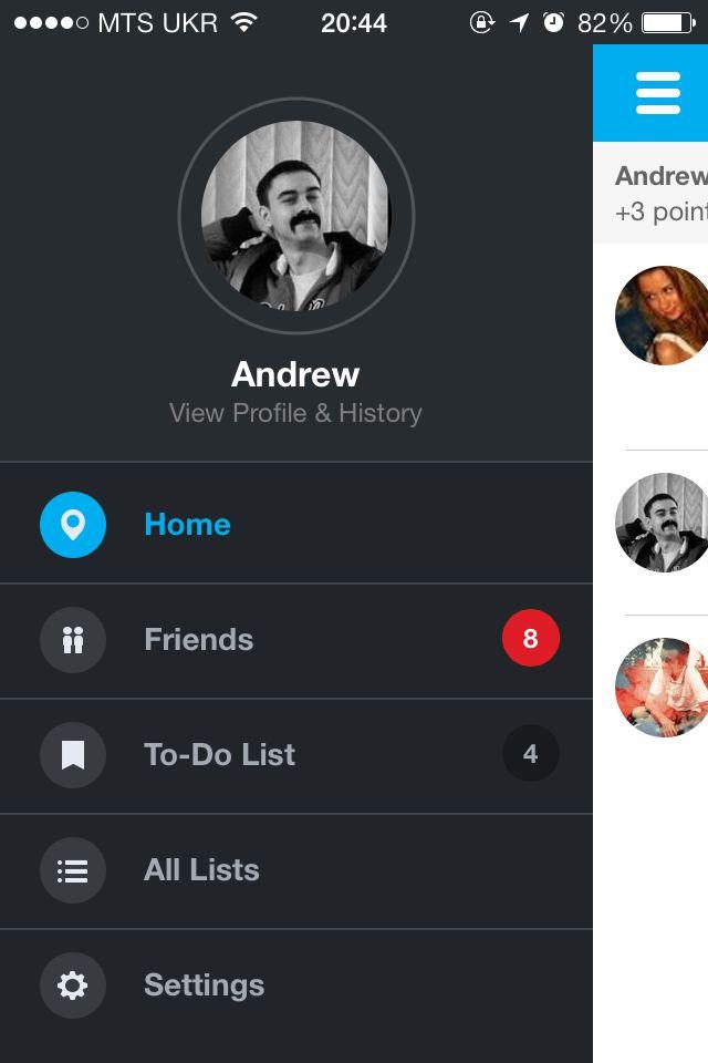 Foursquare 7.0 iOS app UI