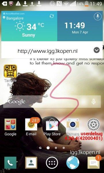Uno screenshot rivela la nuova UI dell' LG G3 - http://www.tecnoandroid.it/uno-screenshot-rivela-la-nuova-ui-dell-lg-g3/