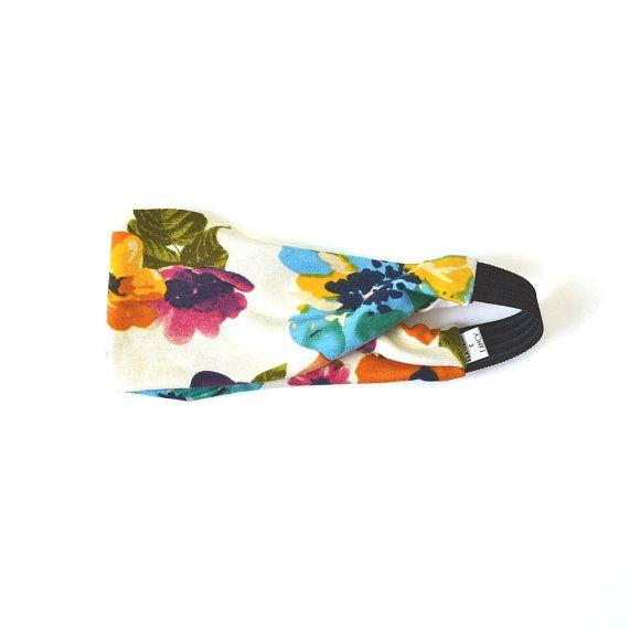 Floral Boho Headband Wide Headwrap Cute by FeathersandFancy
