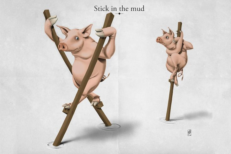 Stick In The Mud art | decor | wall art | inspiration | animals | home decor | idea | humor | gifts