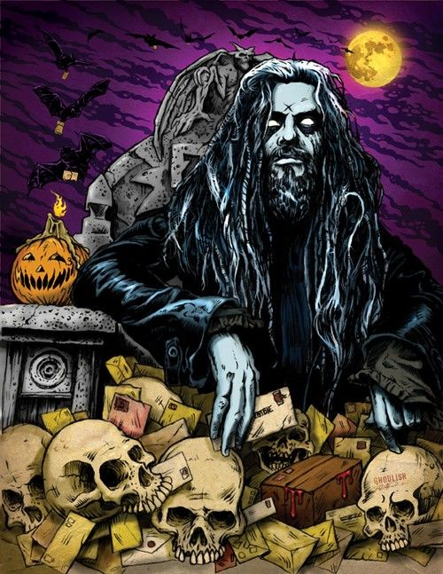 rob zombie 85 x 11 art print by ghoulishgary on etsy - Rob Zombie Halloween Music