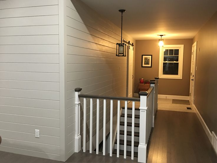 Ship lap accent wall in entrance