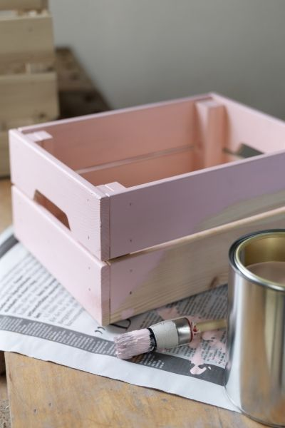 Use the KNAGGLIG boxes from IKEA practically everywhere. Made of solid pine, it's durable and can be painted, oiled or stained for match any decor project.