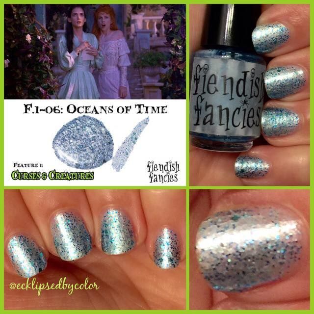 F.1-06: Oceans of Time ~ Curses & Creatures collection by Fiendish Fancies ~ 5-Free, vegan, cruelty-free Nail Lacquer hand-poured in Canada