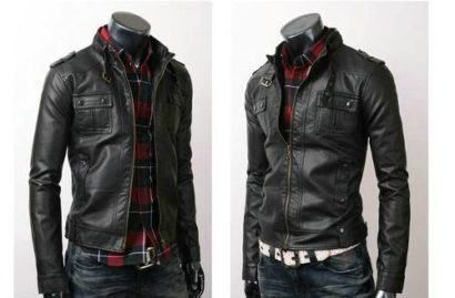 jaquetas de couro masculinas da moda