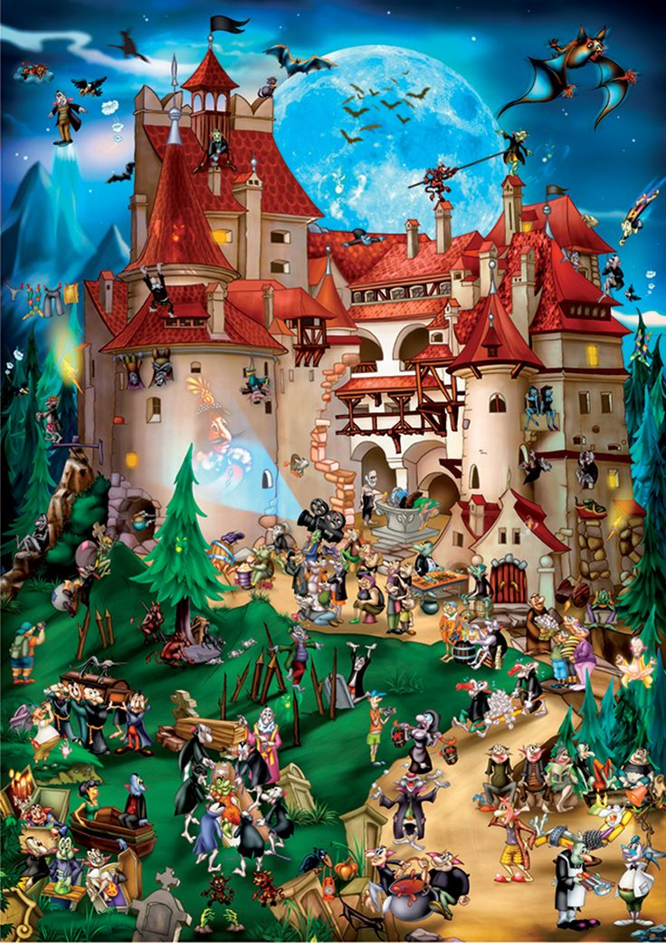 $17.99 Transylvania - 1000 pieces  Finished size: 18.5 x 26.75 D-T Toys