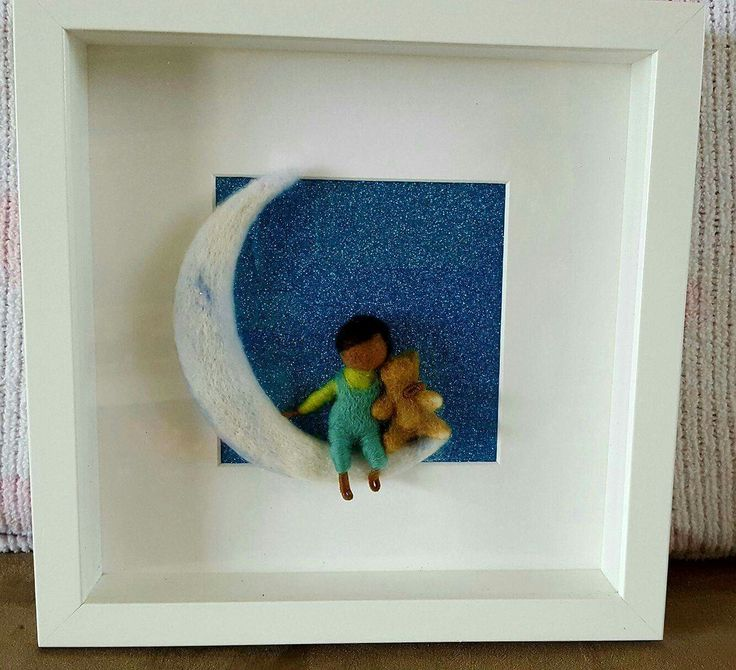 Needlefelted boy with bear on moon made by me shop/ThefeltfairyStudio?ref=hdr_shop_menu