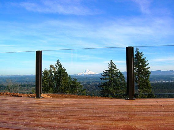 Don't obstruct the view with this gorgeous glass railing design!
