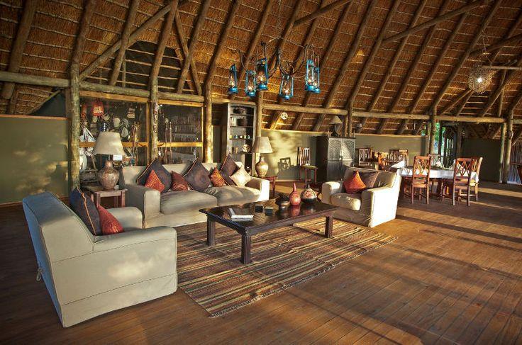 Lounge at Pom Pom Camp (Okavango Delta, Botswana)