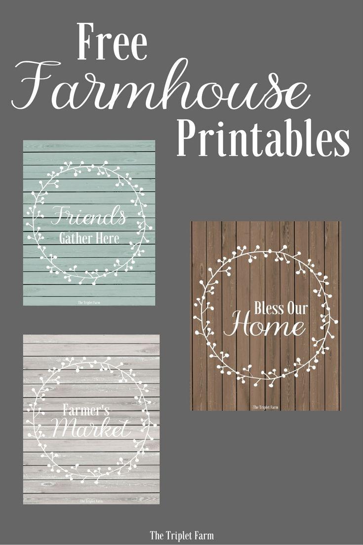 Free farmhouse printables via The