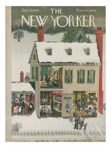 DECEMBER  The New Yorker Cover - December 21, 1946 Poster Print by Edna Eicke at the Condé Nast Collection