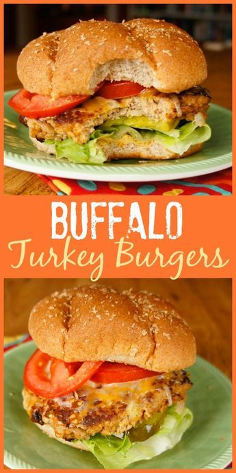 MADE- If you love Buffalo wings, you'll enjoy the flavor of these easy Buffalo Turkey Burgers with hot sauce and blue cheese cooked right in!
