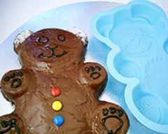 Chocolate-Iced Teddy Bear Cake Recipe - Cakes