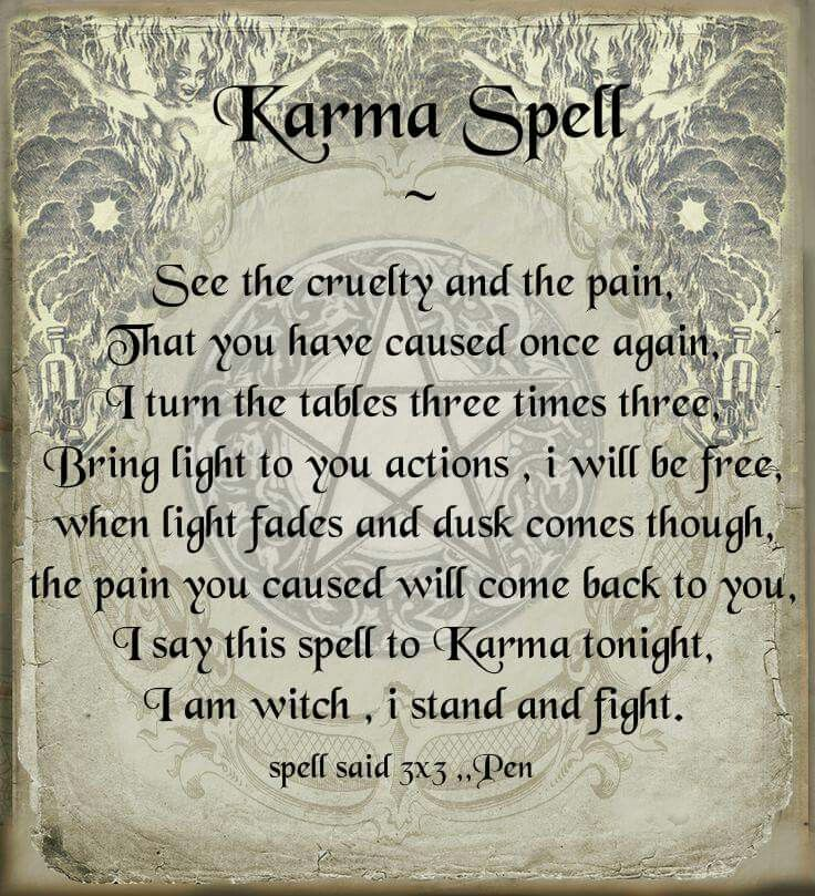 Best 25 curse spells ideas on pinterest magic spell book the karma spell pinned by the mystics emporium on etsy fandeluxe Epub