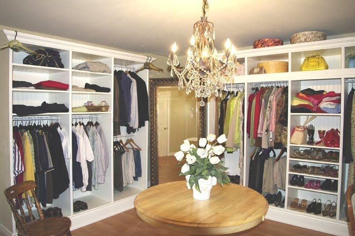 Convert a small bedroom into a walk in closet dressing for Transform small closet space