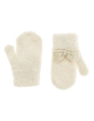 Baby Bow Fluffy Magic Mittens