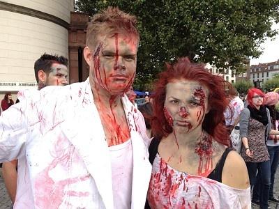 Zombiewalk am Burgplatz in Düsseldorf