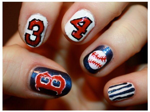 Baseball design nails image collections nail art and nail design 14 best baseball nails images on pinterest baseball nail art 15 sporty baseball nail designs prinsesfo prinsesfo Gallery