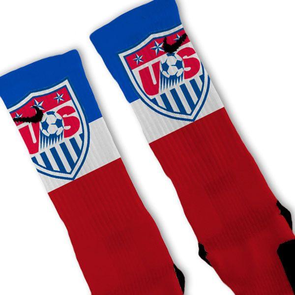 USA Soccer World Cup Crest Custom Nike Elite Socks