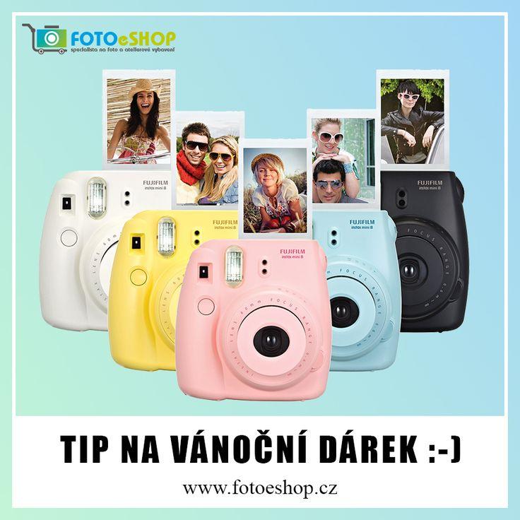 Skvělý tip na vánoční dárek! Instatní fotoaparát Fujifilm Instax Mini 8 #instax http://www.fotoeshop.cz/97-fotoaparaty