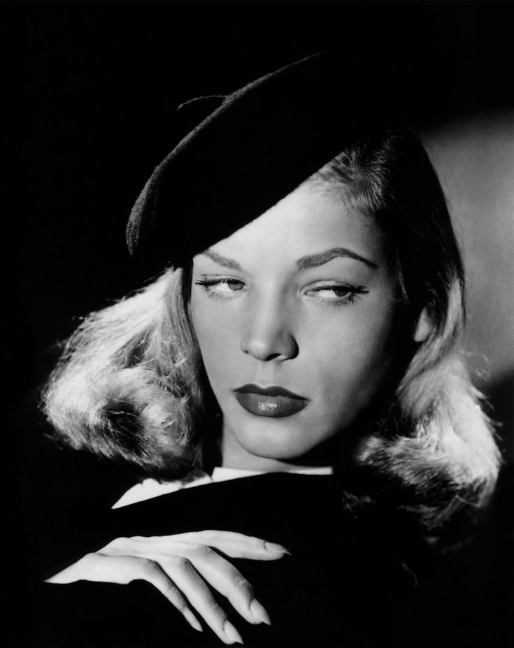 Classic film noir.  Lauren Bacall in The Big Sleep 1946