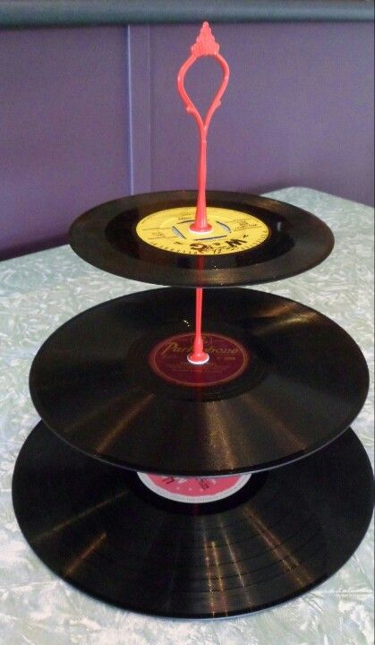Record cake plate