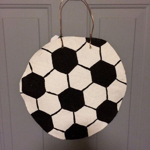 personalized soccer burlap door hanging