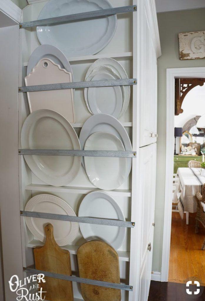 Diy Plate Ledges A House Wren In 2019 Plate Racks Diy Kitchen