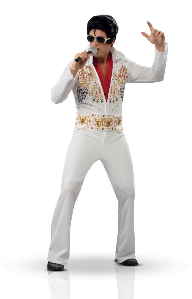 LICENSED ELVIS PRESLEY ADULT MENS 50/'S COSTUME CAPE W// EAGLE ROCK N ROLLS WHITE