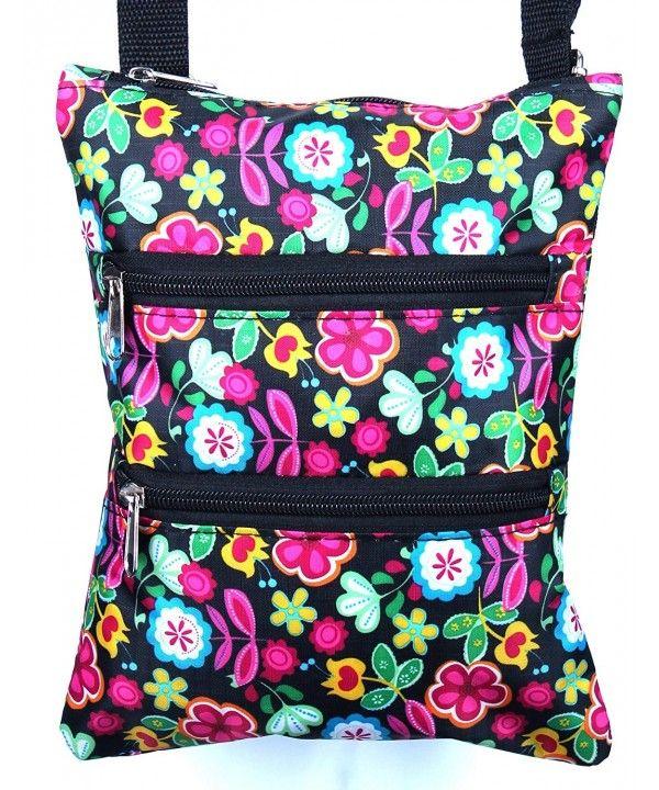 Women s Girls Designer Print Adjustable Crossbody Zipper Bag Purse ... 3f462d6877cce