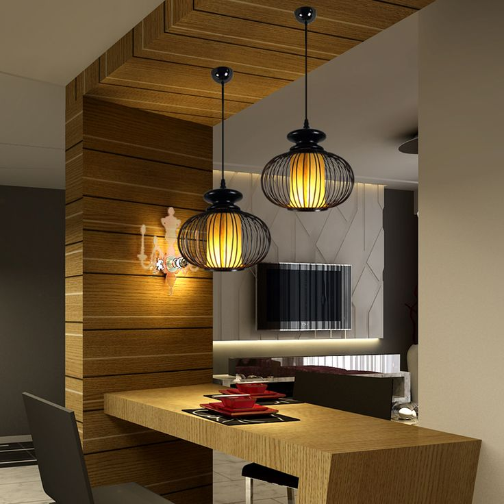Single pendant light japanese style brief lamps coatroom for Dining room 3 pendant lights
