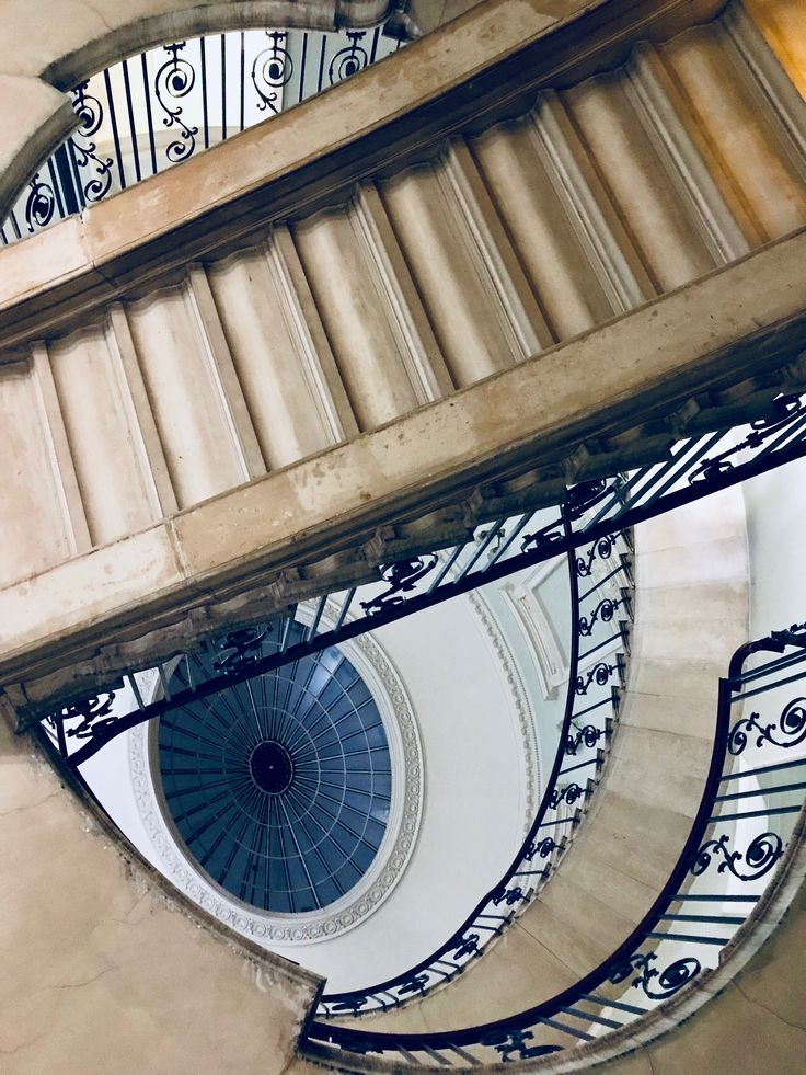 Courtauld Institute of Arts, Somerset House, staircase, December 2017, London