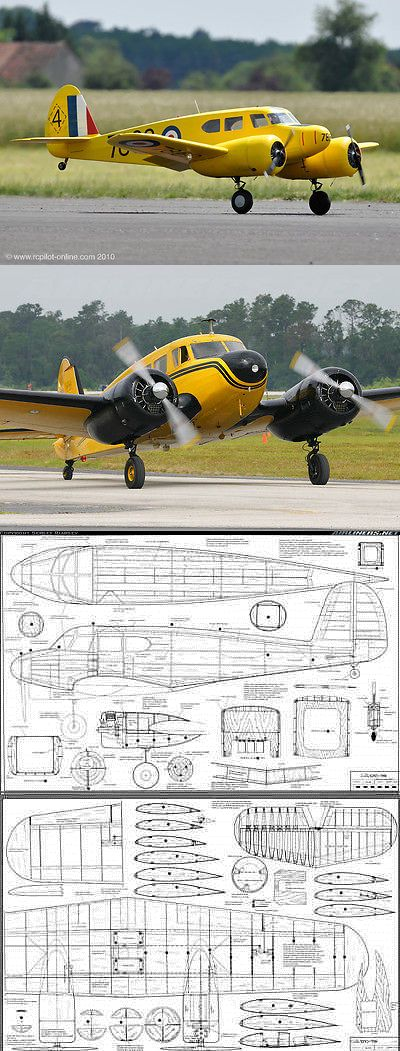 RC Plans Templates and Manuals 182212: Giant Scale Cessna Bobcat 110 Inch Ws Rc Model Airplane Printed Plans -> BUY IT NOW ONLY: $30 on eBay!