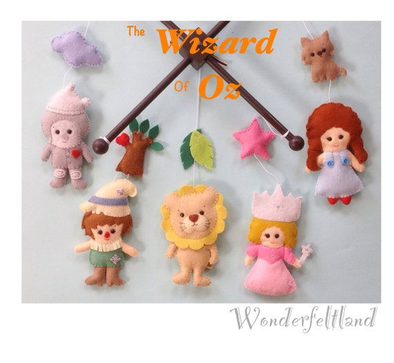 10off Crib Baby Mobile Nursery Decor The wizard by wonderfeltland, $85.50