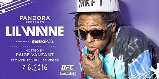 Tonight, Lil Wayne and mixed martial artist Paige VanZant will be co-hosting an event at TAO nightclub in Las Vegas, Nevada for 2016 UFC International Fight