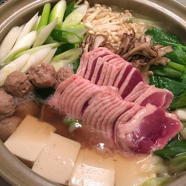 今夜は、鴨鍋 鴨旨味で、野菜が美味しい 今夜は焼酎で乾杯〜〜 - 157件のもぐもぐ - 鴨鍋 by Mina0602