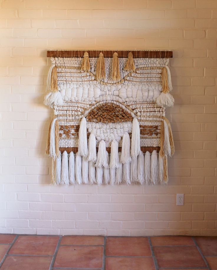 Margo Farrin O'Connor for Ted Morris Assoc.Wall Hanging. $780.00, via Etsy. Gorgeous weaving.