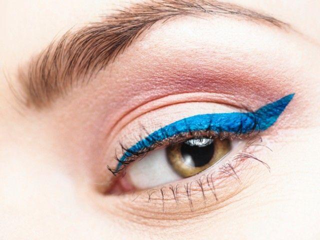 The Best Makeup Trends 2014   Zufash #eyeliner #eye #eyebrow #blueeyeliner