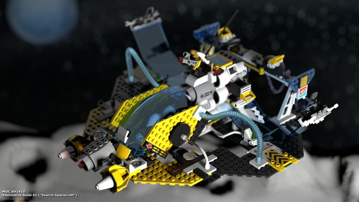 "MOC 691410 Alternative Build 01 (""Search Spacecraft""), see more at http://lego.queryen.com/php/691410.php"