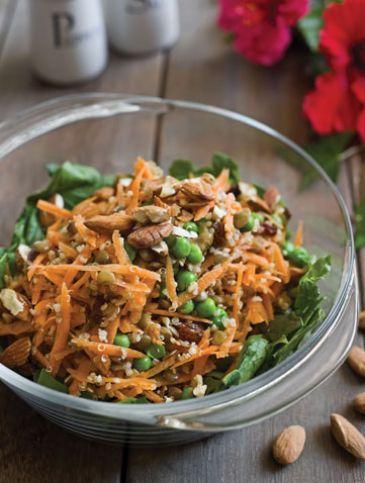 Σαλάτα με φακές και σος ταχίνι | Συνταγές, Σαλάτες | Athena's Recipes
