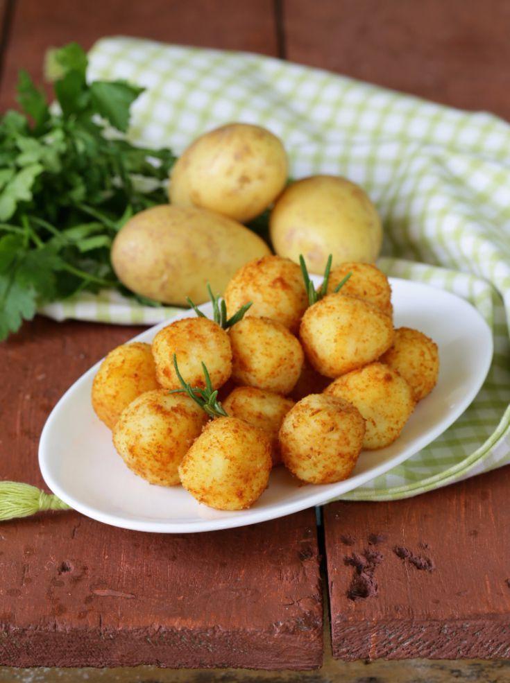 Vyprážané zemiakové guľky