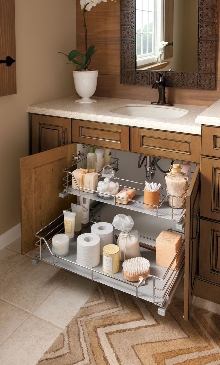 Bathroom cabinet organizers - Bathroom Organization Bathroom Remodel Bathroom Inspiration Kitchen And Bathroom Storage