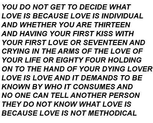 Love is not methodical