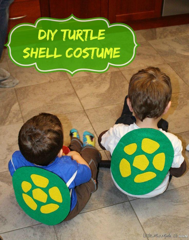 DIY Teeenage Muntant Ninja Turtle Shell costume Craft