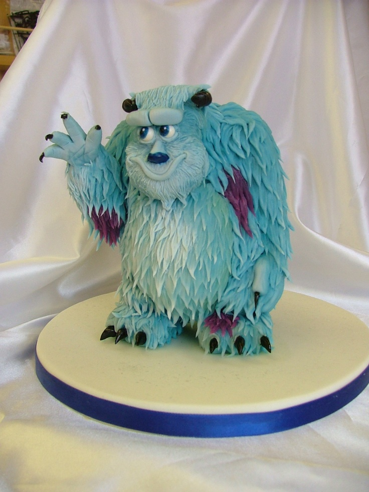 Monsters Inc Sully cake
