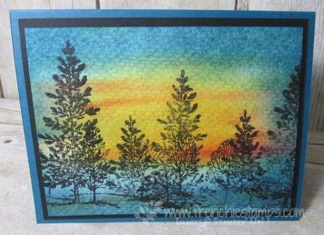 Hello Stampers   Beautiful sunset and sunrise is so inspiration to make a great scenery card. This was the cards that I did live on ...
