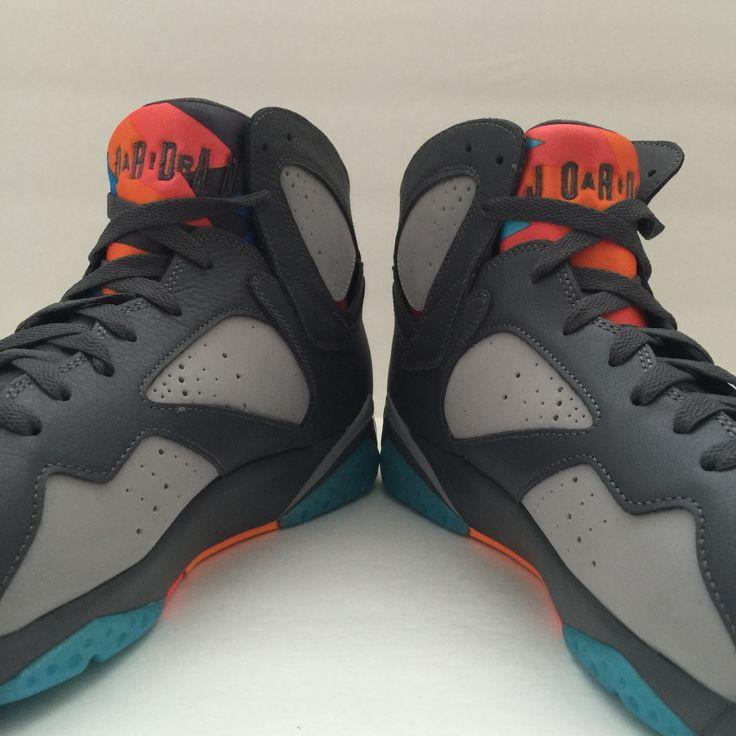 8f919e95213c26 Hot Sale Online Nike Air Jordan 7 Cheap sale Orlando Magic White ...
