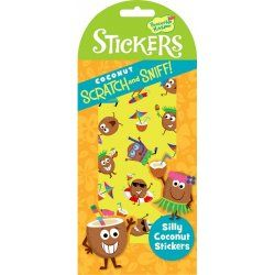 Little Boo-Teek - Stocking Fillers Scratch and Sniff Stickers - Silly Coconut $4.95 www.littlebooteek.com.au #littlebooteek #christmas #stockingfillers #presents #kids #baby