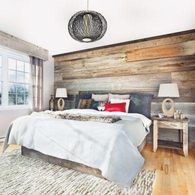 Chambre rustique comme au chalet - Chambre - Inspirations - Décoration et rénovation - Pratico Pratique