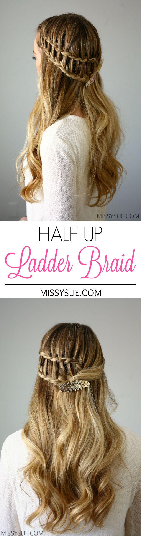Half Up Ladder Braid